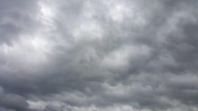 nuages de pluie noirs Images libres de droits