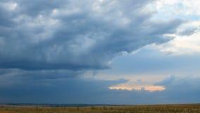 Nuages de pluie se déplaçant rapidement au-dessus du ciel gris, laps de temps clips vidéos