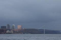Nuages de pluie sombres après ouragan Sandy Photos libres de droits