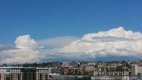 Nuages de Seattle Image stock