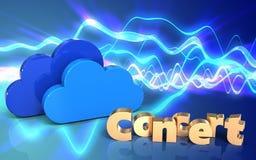 nuages de signe du concert 3d illustration libre de droits