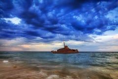 Nuages de sud de Sygna de mer Photo stock