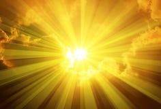 Nuages de Sun de ciel Photo stock