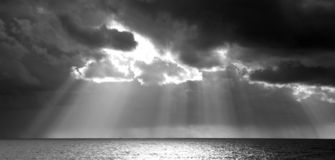 Nuages de tempête Photos stock