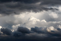 Nuages de tempête Images stock