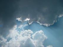 Nuages de tempête de clairière Image stock