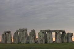 Nuages de tempête de Stonehenge Images libres de droits