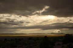Nuages de tempête sur le parc national de Canyonlands images libres de droits