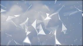 Nuages de vol dans le ciel et le plexus clips vidéos