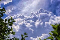 Nuages divins sur un ciel bleu image libre de droits
