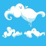 Nuages drôles, nuages drôles de bande dessinée Image libre de droits