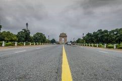 Nuages dramatiques d'Inde de la Nouvelle Delhi de porte d'Inde Photos stock