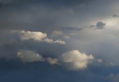 Nuages en brume Photo stock