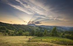 Coucher du soleil majestueux Photographie stock
