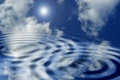 Nuages et eau Image stock