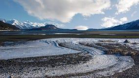 Nuages et glace Images libres de droits