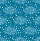 Nuages et gouttes de pluie abstraits Images libres de droits
