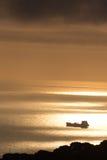 Nuages et lumière au-dessus de la mer dans la baie d'Alger Images stock