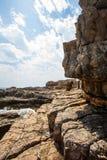 Nuages et pierres Photo libre de droits