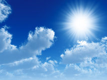 Nuages et soleil Photographie stock libre de droits