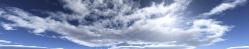 Nuages et soleil, beau ciel avec des nuages Photo stock