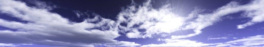 Nuages et soleil, beau ciel avec des nuages Images libres de droits