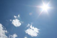 Nuages et Sun Photos libres de droits