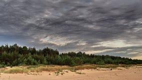 Nuages gris Photographie stock