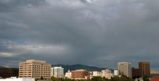 Nuages horizon de ville au-dessus de Boise, Idaho Photos stock