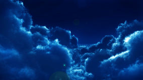 Nuages la nuit illustration stock