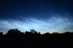 Nuages Noctilucent Images stock