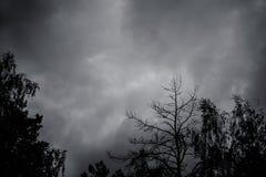 Nuages noirs foncés Photo libre de droits