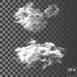 Nuages Nuage différent transparent réaliste Photographie stock