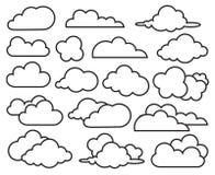 nuages réglés illustration libre de droits