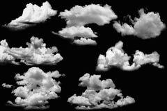 nuages réglés Photos libres de droits