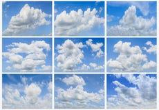 nuages réglés Image stock