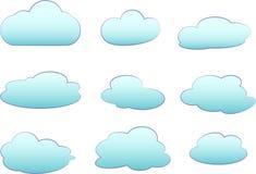 nuages réglés photo libre de droits