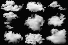 nuages réglés Photos stock