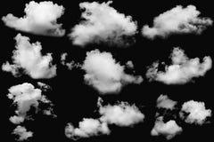 nuages réglés Images libres de droits
