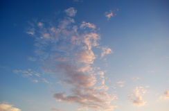 Nuages roses Photographie stock