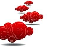 Nuages rouges Photographie stock libre de droits