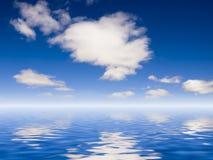 Nuages sur l'eau de mer Photos libres de droits