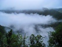 Nuages sur la vallée sacrée Inca Trail peru beau chiffre dimensionnel illustration trois du sud de 3d Amérique très Photo libre de droits