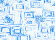 Nuages sur la vue de backrounds de ciel bleu par le châssis de fenêtre abstrait Photographie stock