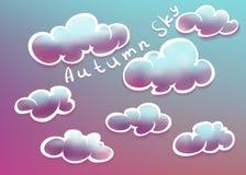 Nuages sur le ciel d'automne Image libre de droits