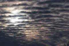 Nuages texturisés dans le ciel bleu Photos libres de droits