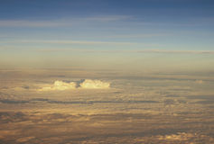 Nuages, vue d'avion Image libre de droits