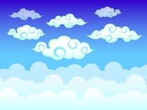 Nuageux sur le ciel bleu Image stock