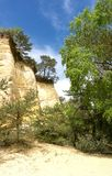 20 nuances d'ocre dans le Colorado Provencal Image stock