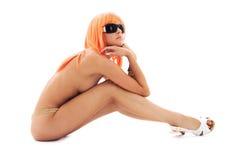 nuances d'orange de cheveu de fille Photos libres de droits